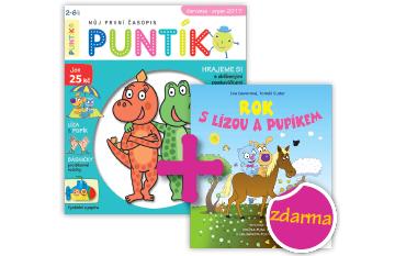 Roční předplatné časopisu Puntík+ Knížka Rok s Lízou a Pupíkem