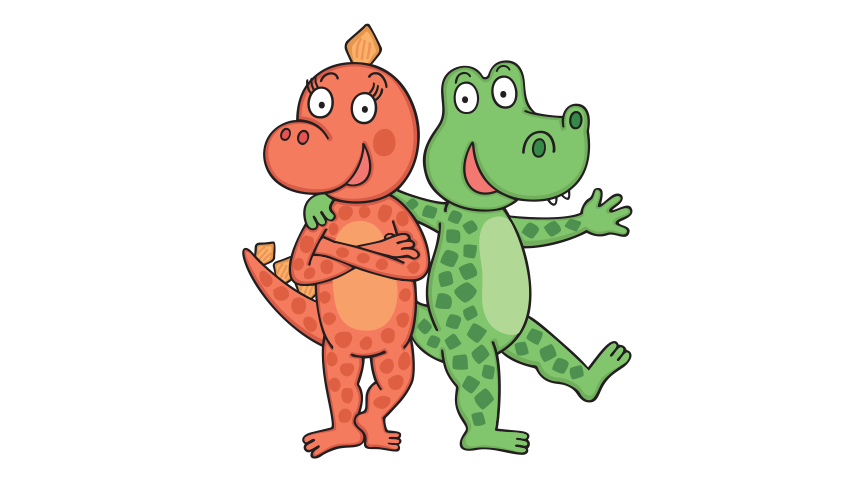 Dino a Saura – omalovánky