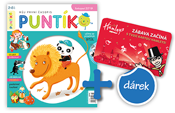 Roční předplatné časopisu Puntík + karta na atrakce v Hamleys v hodnotě 500 Kč