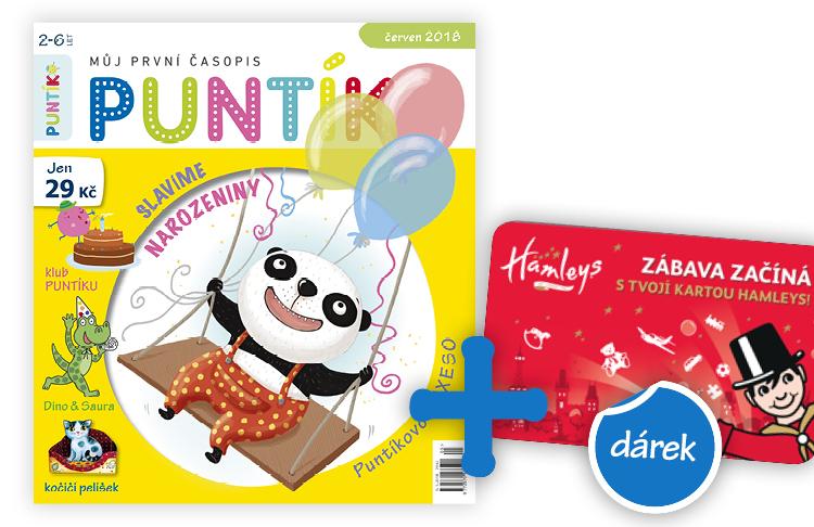 Roční předplatné časopisu Puntík + karta na atrakce v Hamleys