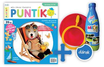 Roční předplatné časopisu Puntík + sada na výrobu bublin Megabublina