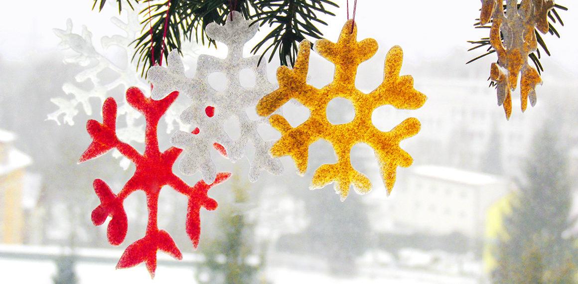 Sněhová dekorace