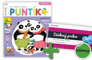 2roční předplatné časopisu Puntík + měsíční vstup do Expresky se zápisným