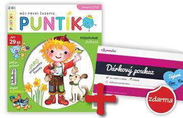 Dvouleté předplatné časopisu Puntík + měsíční vstup do Expresky se zápisným