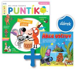 Roční předplatné časopisu Puntík +hra Akce ostrov