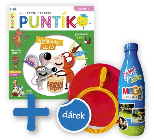 Roční předplatné časopisu Puntík + Sada na výrobu bublin