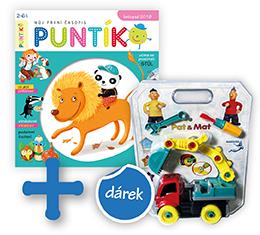 Roční předplatné časopisu Puntík + autobagr Pat a Mat