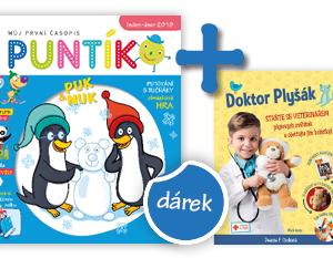 Roční předplatné časopisu Puntík + kniha Doktor Plyšák