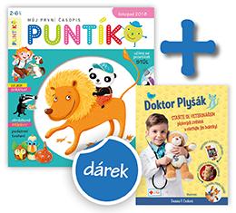 Roční předplatné Puntík + kniha Doktor Plyšák