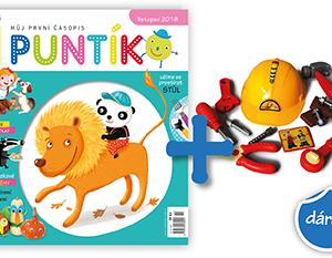 Roční předplatné časopisu Puntík + sada nářadí Pat a Mat