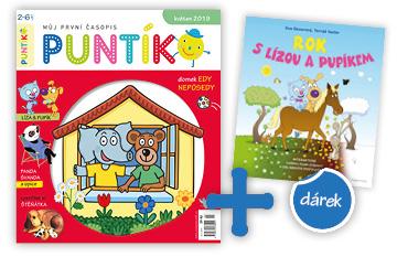 Roční předplatné časopisu Puntík + kniha Rok s Lízou a Pupíkem