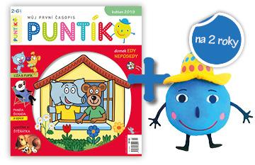 Dvouleté předplatné časopisu Puntík + plyšový Puntík