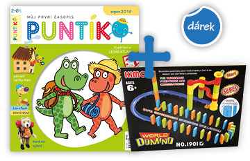 Roční předplatné časopisu Puntík + Kuličková dráha s dominem