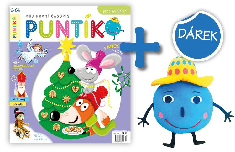Předplaťte si časopis Puntík na rok (11 čísel) + plyšový Puntík