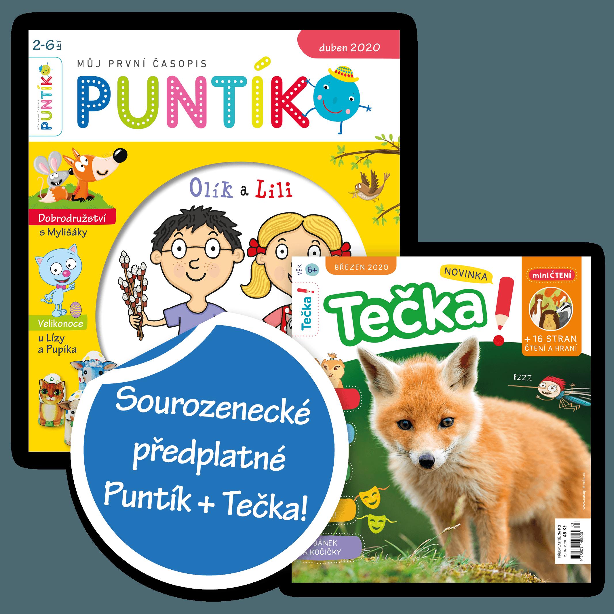 Sourozenecké předplatné Puntík + Tečka!