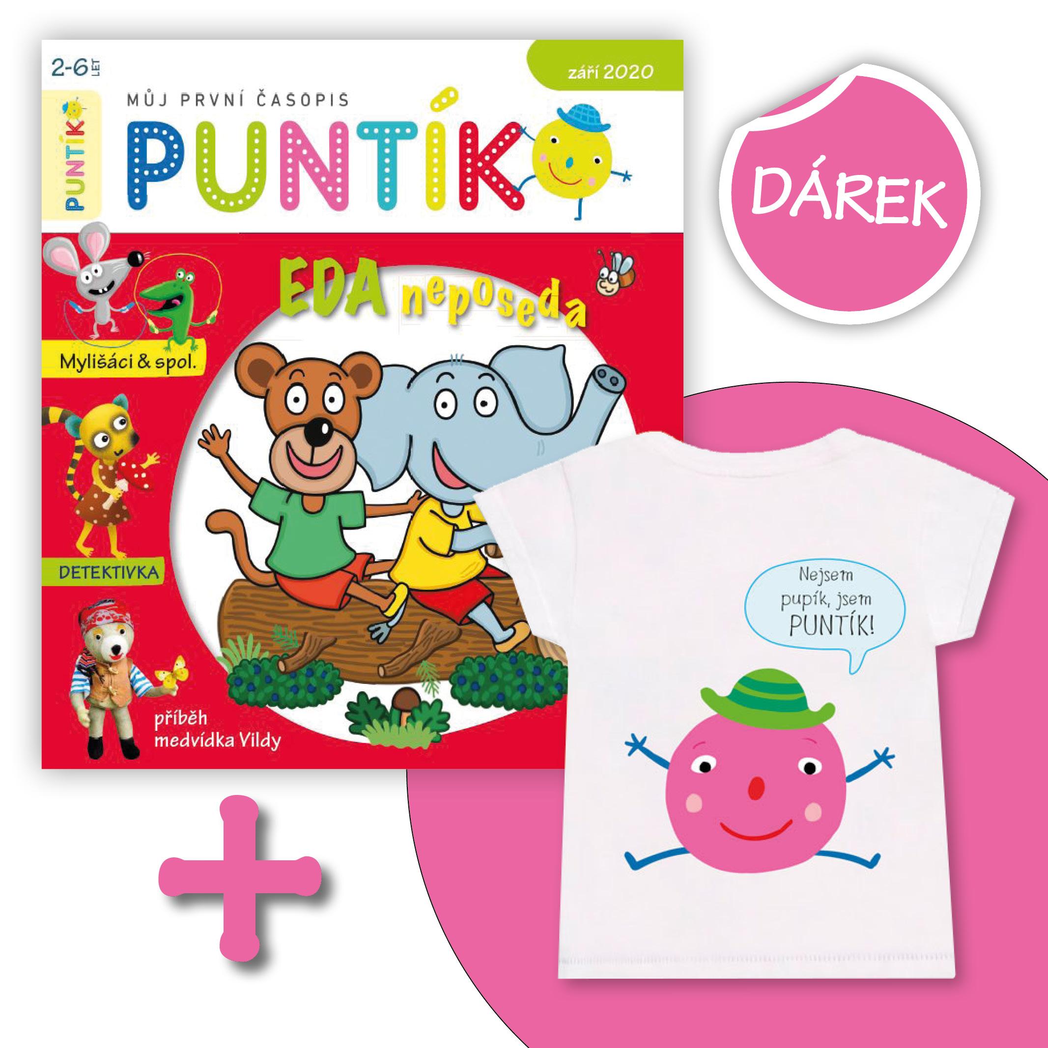 Předplaťte si časopis Puntík na rok (10 čísel) + růžový Puntík