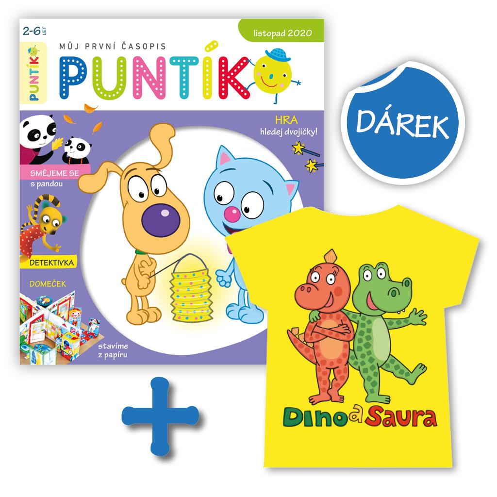 Roční předplatné + tričko Dino a Saura